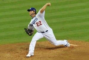 MLB 2013 Clayton Kershaw - Los Angeles Dodgers Vs St Louis Cardinals – 2013 NL Championship Series Game 2