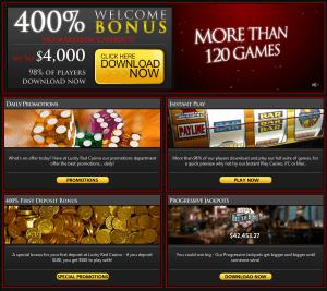 Lucky Red USA Casino Screenshot