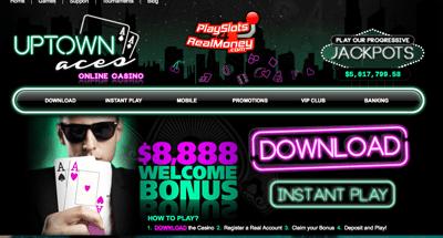 Uptown Aces USA Online Casino Screenshot